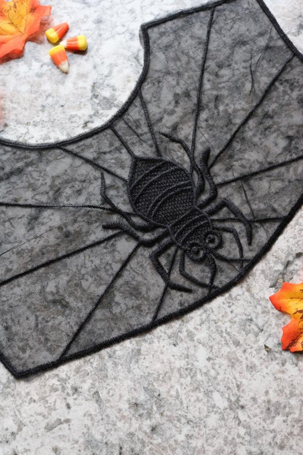 Black Widow Collar Applique