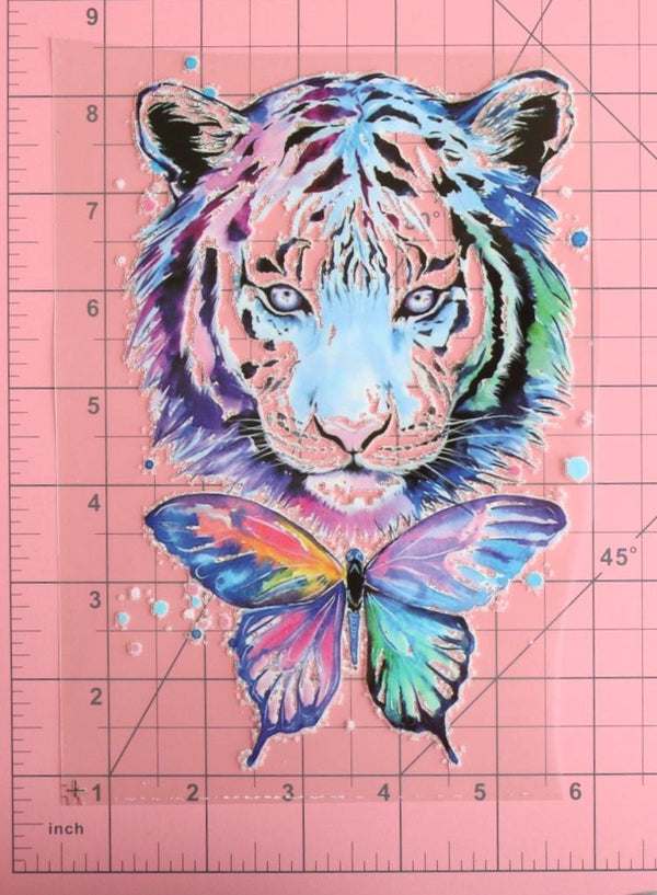 Large Tiger Love Heat Transfer, Iron-On