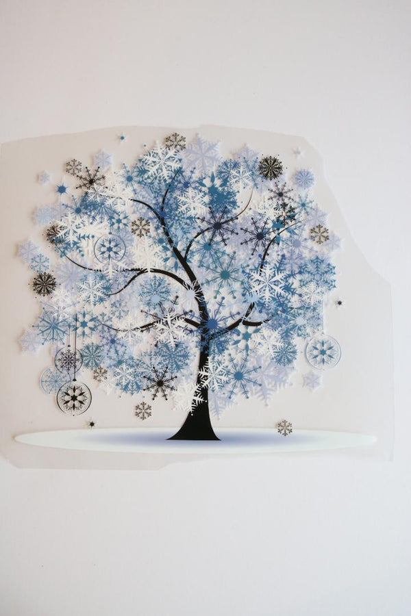 Frosty Trees Heat Transfer, Iron-On
