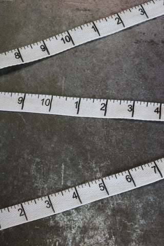 "White/Black Double-Sided Measuring Tape 5/8"" Twill Tape"