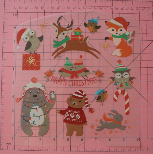 Christmas Fur Friends Heat Transfer, Iron-On