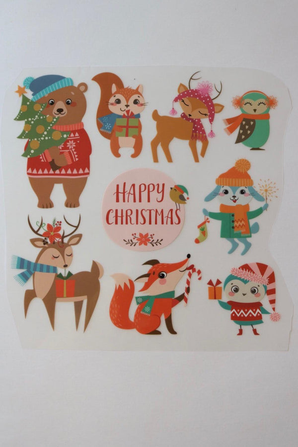 Christmas Animals Heat Transfer, Iron-On