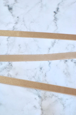 "Nude 1/2"" (12mm) Plush Back Satin Strap Elastic"