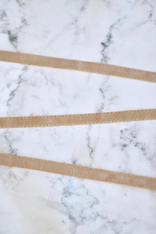 "Nude 3/8"" (10mm) Plush Back Strap Elastic"