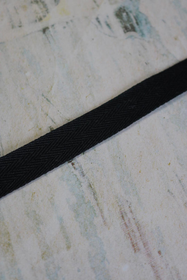 "Black 5/8"" Twill Tape"
