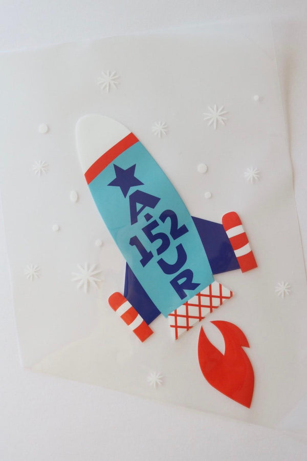 Blast Off Heat Transfer, Iron-On