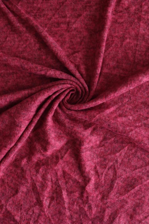 Magenta Brushed Sweater Knit