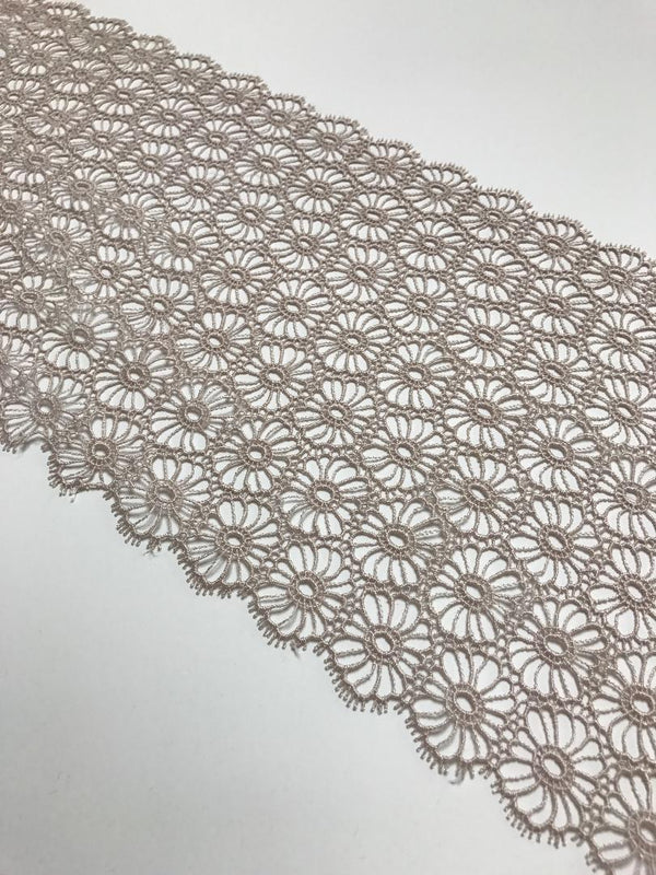 "Taupe 8"" Wide Venice Lace"