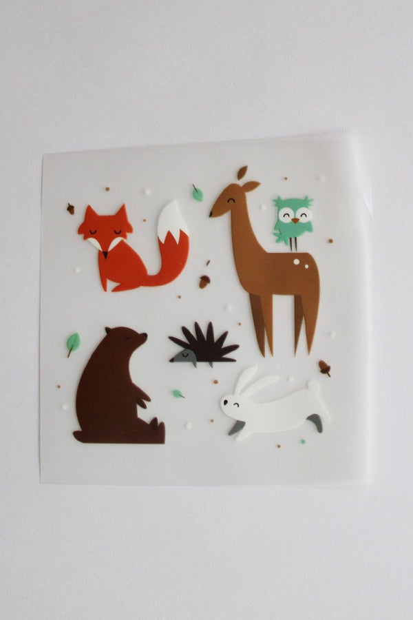 Woodland Creatures Heat Transfer, Iron-On