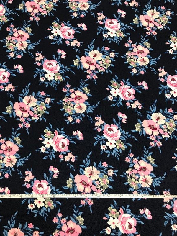 Claire Floral on Navy Liverpool