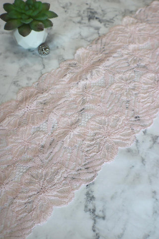 "Ballet Pink 7.5"" Wide Stretch Lace"