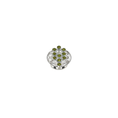 Ring Flower of Life Peridot