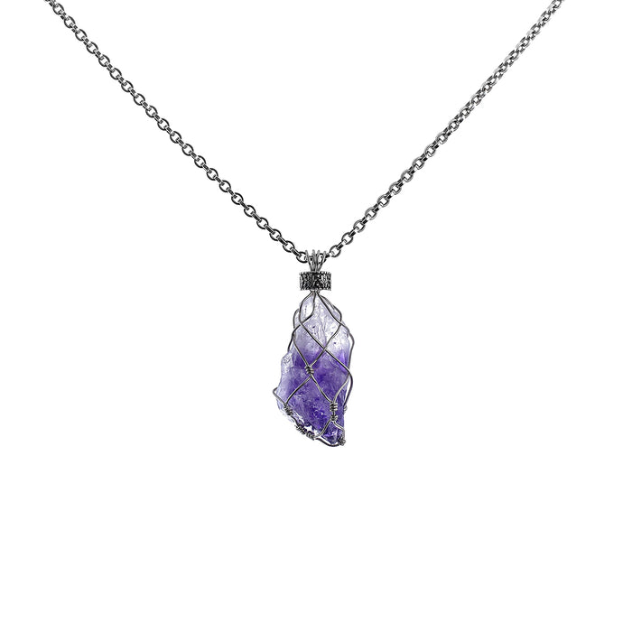 Wire Wisdom Wealth Pendant Amethyst 17