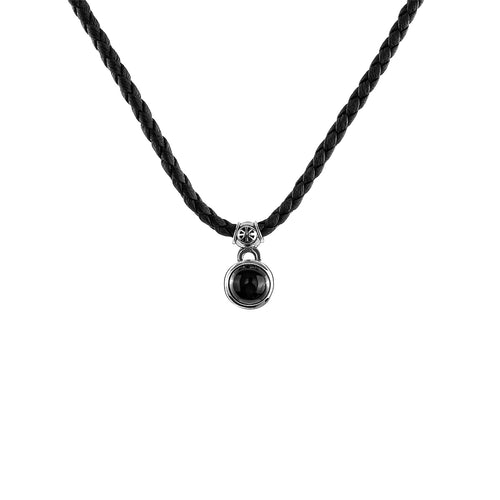 Women Neckless Hope Black Onyx Petite