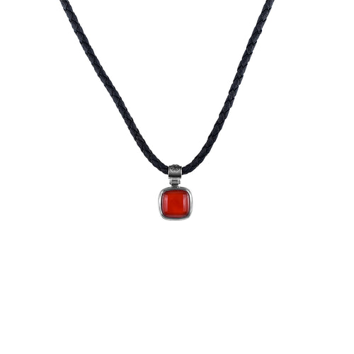 Necklace Red Agate Petite