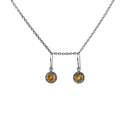 Earring Sun Star Citrine