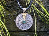 Zodiac Wheel Necklace Scorpio Green Tourmaline 17
