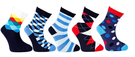 Socks n Socks-Boy's 5-pair Fun Cool Cotton Colorful Dress Crew Socks Gift Box - Socksn'Ties