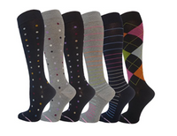 Ladies 6 Pair Pack Compression Socks - Socksn'Ties