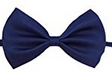 Glittermall Navy Blue Adjustable Boys Kids Bow Tie - Socksn'Ties