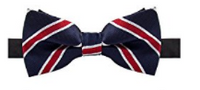 AUSKY Elegant Adjustable Pre-tied bow ties for Men in Blue & Red - Socksn'Ties