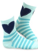 TeeHee green Kids Girls Stripes Fashion Cotton Short Crew - Socksn'Ties