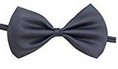 Glittermall Gray Adjustable Boys Kids Bow Tie - Socksn'Ties