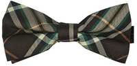Ukerdo Brown Mens Plaid Tuxedo Bow Tie. - Socksn'Ties