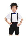 Glittermall Blue Adjustable Boys Kids Bow Tie - Socksn'Ties