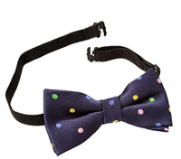 Bundle Monster Stylish Black Adjustable Boys Bow Tie - Socksn'Ties