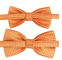 Matching naranja Kids Men Bowties Pre Tied Bow Ties Set for Baby Boys and Daddy - Socksn'Ties