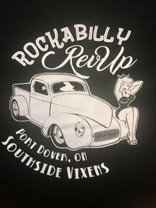Rockabilly Rev Up T Shirt - Ladies - Retro Peaches
