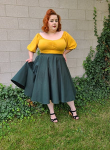 Mid Sleeve Molly Top - Mustard - Retro Peaches Vintage Dresses