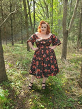 Mid Sleeve Molly Dress - Floral - Retro Peaches Vintage Dresses