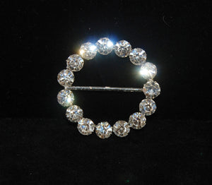 Rhinestone Circle Buckle