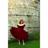 Molly Swing Dress - Dark Burgundy - Retro Peaches Vintage Dresses