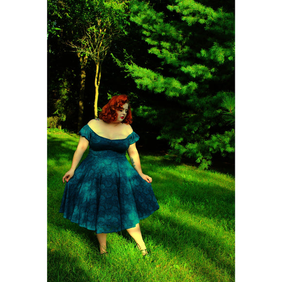 Molly Swing Dress - Dark Teal - Retro Peaches Vintage Dresses