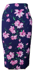 Toni Skirt - Navy Floral - Retro Peaches