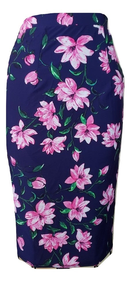 Toni Skirt - Navy Floral - Retro Peaches Vintage Dresses