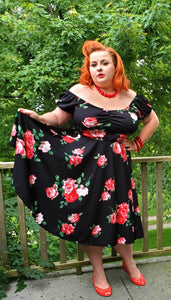 Molly Swing Dress - Roses - Retro Peaches Vintage Dresses