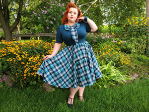 Daphne Swing Dress - Plaid - Retro Peaches