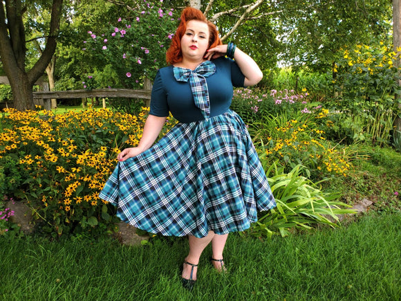Daphne Swing Dress - Plaid - Retro Peaches Vintage Dresses