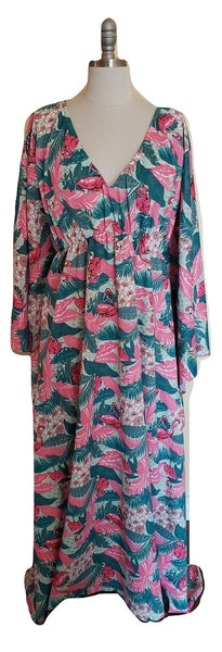 Carmen Caftan - Flamingo - Retro Peaches