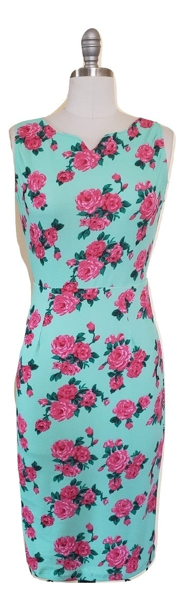 Iris Wiggle Dress - Retro Peaches Vintage Dresses