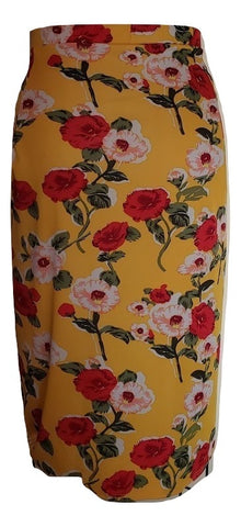 Toni Skirt - Floral Yellow - Retro Peaches