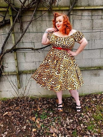 Molly Dress - Leopard - Retro Peaches