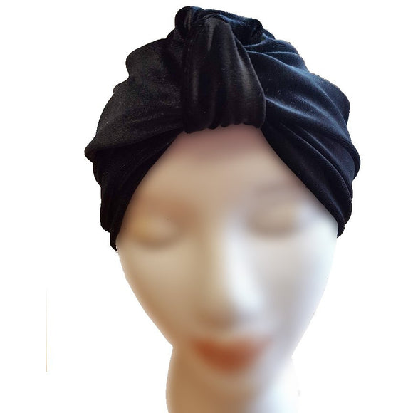 Velvet Turban - Black - Retro Peaches Vintage Dresses