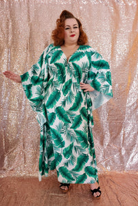 Carmen Caftan - Leaves - Retro Peaches