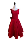 Evelyn Swing Dress - Red Velvet - Retro Peaches