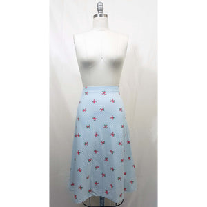 Natasha Skirt - Gingham & Roses Print - Retro Peaches Vintage Dresses